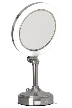 Surround Light 10X / 1X Satin Nickel Vanity Mirror (Model Slv410)